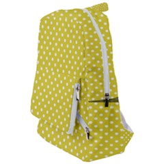 Yellow Polka Dot Travelers  Backpack by retrotoomoderndesigns