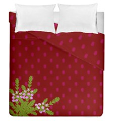 Vivid Burgundy & Heather Duvet Cover Double Side (queen Size) by WensdaiAmbrose