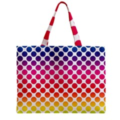 Rainbow Polka Dots Mini Tote Bag