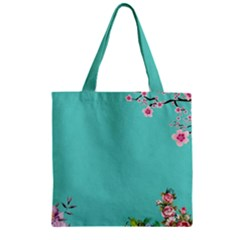 Come See The Cherry Trees Zipper Grocery Tote Bag