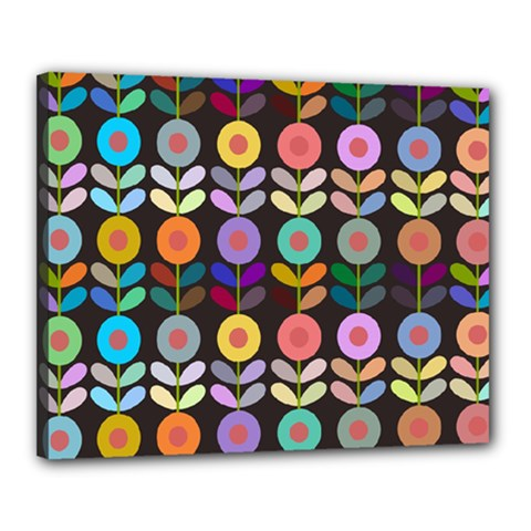 Zappwaits Flowers Canvas 20  X 16  (stretched)