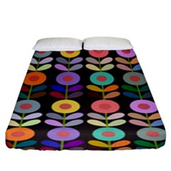 Zappwaits Flowers Fitted Sheet (king Size)