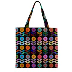 Zappwaits Flowers Zipper Grocery Tote Bag by zappwaits