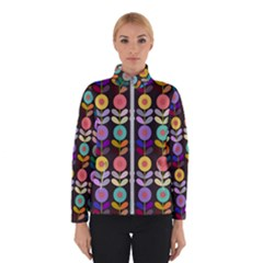 Zappwaits Flowers Winter Jacket