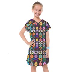 Zappwaits Flowers Kids  Drop Waist Dress