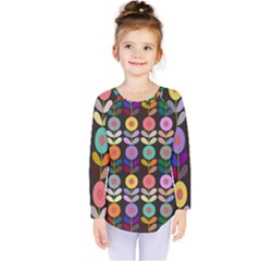 Zappwaits Flowers Kids  Long Sleeve Tee