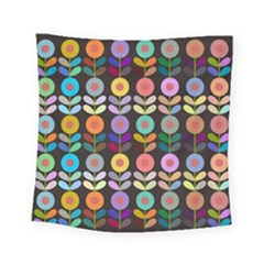 Zappwaits Flowers Square Tapestry (small)