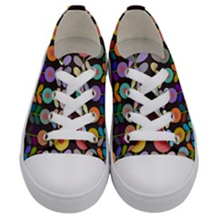 Zappwaits Flowers Kids  Low Top Canvas Sneakers