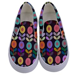 Zappwaits Flowers Kids  Canvas Slip Ons