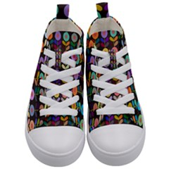Zappwaits Flowers Kids  Mid-top Canvas Sneakers