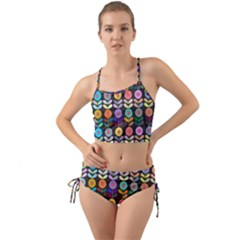 Zappwaits Flowers Mini Tank Bikini Set