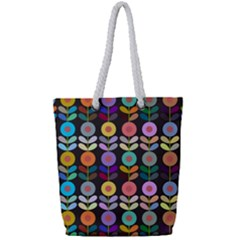 Zappwaits Flowers Full Print Rope Handle Tote (small)