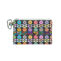 Zappwaits Flowers Canvas Cosmetic Bag (small)