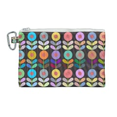Zappwaits Flowers Canvas Cosmetic Bag (large)
