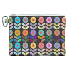 Zappwaits Flowers Canvas Cosmetic Bag (xl)