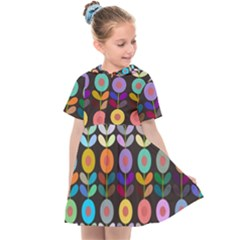 Zappwaits Flowers Kids  Sailor Dress