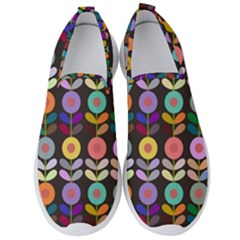 Zappwaits Flowers Men s Slip On Sneakers