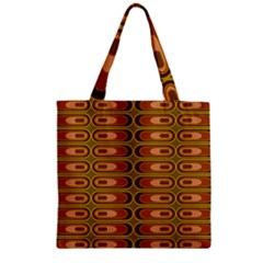 Zappwaits Retro Zipper Grocery Tote Bag