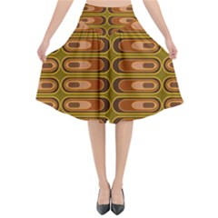Zappwaits Retro Flared Midi Skirt