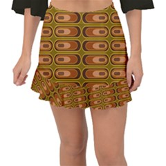 Zappwaits Retro Fishtail Mini Chiffon Skirt