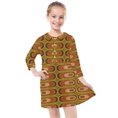 Zappwaits Retro Kids  Quarter Sleeve Shirt Dress by zappwaits
