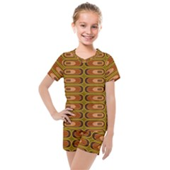 Zappwaits Retro Kids  Mesh Tee And Shorts Set by zappwaits