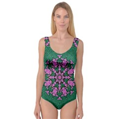 The Most Uniqe Flower Star In Ornate Glitter Princess Tank Leotard  by pepitasart