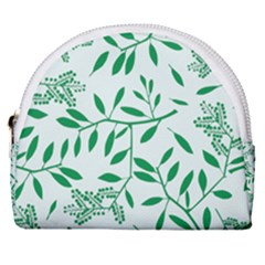 Leaves Foliage Green Wallpaper Horseshoe Style Canvas Pouch by Mariart