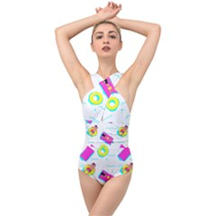 Swim Playboy Summer Mode Cross Front Low Back Swimsuit