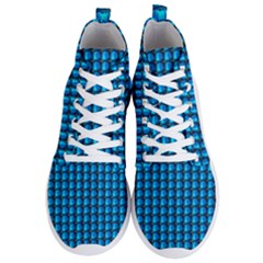 Background Pattern Structure Blue Men s Lightweight High Top Sneakers