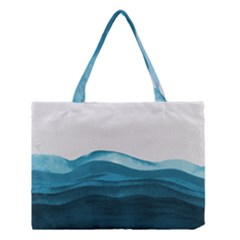 Ocean Waves Painting Medium Tote Bag