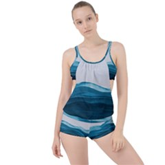 Ocean Waves Painting Boyleg Tankini Set