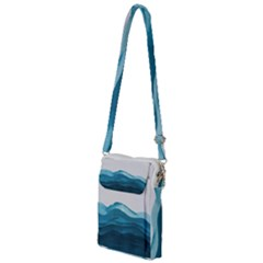 Ocean Waves Painting Multi Function Travel Bag by goljakoff