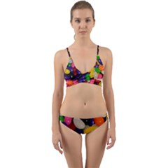 Jelly Beans Wrap Around Bikini Set by pauchesstore