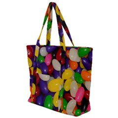 Jelly Beans Zip Up Canvas Bag