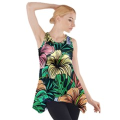 Hibiscus Dream Side Drop Tank Tunic