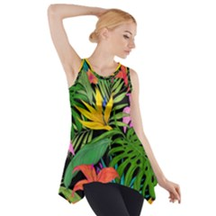 Tropical Adventure Side Drop Tank Tunic