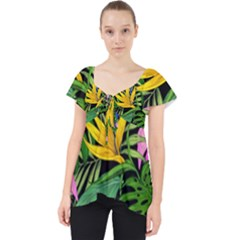 Tropical Adventure Lace Front Dolly Top