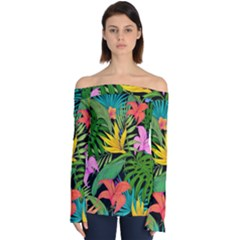 Tropical Adventure Off Shoulder Long Sleeve Top