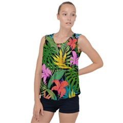 Tropical Adventure Bubble Hem Chiffon Tank Top