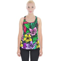 Neon Hibiscus Piece Up Tank Top