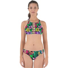 Neon Hibiscus Perfectly Cut Out Bikini Set
