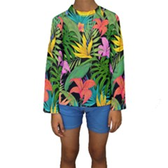 Tropical Adventure Kids  Long Sleeve Swimwear