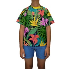 Tropical Adventure Kids  Short Sleeve Swimwear