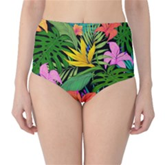 Tropical Adventure Classic High Waist Bikini Bottoms