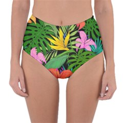 Tropical Adventure Reversible High Waist Bikini Bottoms