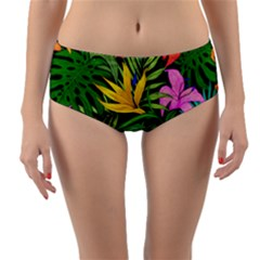 Tropical Adventure Reversible Mid-waist Bikini Bottoms