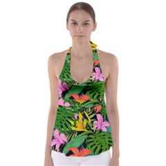 Tropical Adventure Babydoll Tankini Top