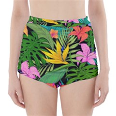 Tropical Adventure High-waisted Bikini Bottoms