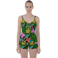 Tropical Adventure Tie Front Two Piece Tankini